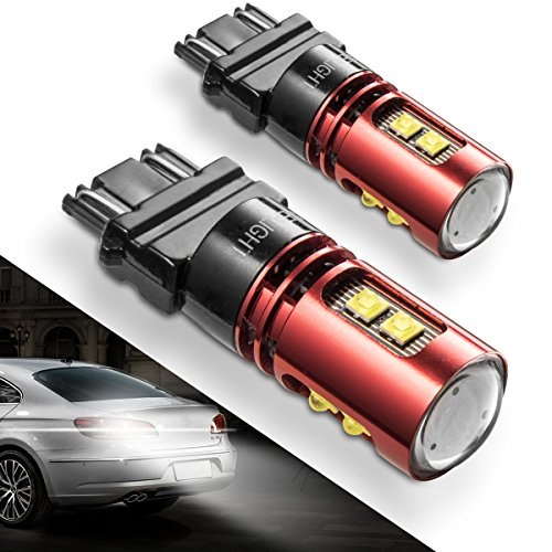 SEALIGHT 3157 LED Reverse Lights with 9 CREE LED Chips Extremely Bright 6000K Xenon White, 2-pack (Traditional Malibu Trim)