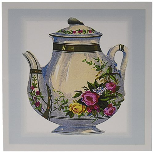 Price comparison product image 3dRose Victorian Floral Teapot - Greeting Cards, 6 x 6 inches, set of 6 (gc_43813_1)