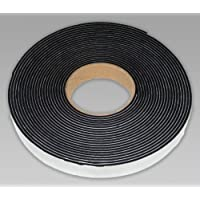 Neoprene sponge rubber self adhesive strip 50mm wide x 6mm thick x 5m long - weather, noise seal