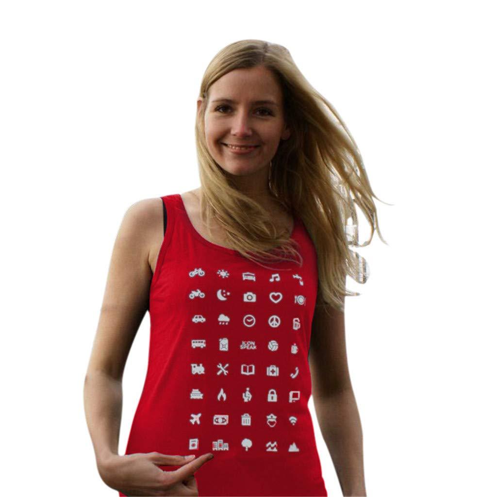 T-Shirt à Manches Courtes ❤,LANSKIRT Tee Shirt Débardeur Ample sans Manche Les Hommes Et Les Femmes Ont Demandé Un Gilet De Voyage