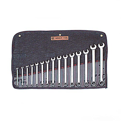 (Wright Tool 952 Full Polish Metric 12 Point Combination Wrench Set, 7mm-22mm (15-Piece))