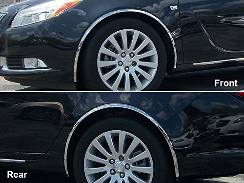 QAA fits 2011-2013 Buick Regal 4 Piece Molded Stainless Steel Wheel Well Fender Trim Molding WZ51575