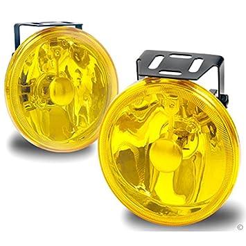 Universal 10,2 cm rund gelb Nebelscheinwerfer Kit: Amazon.de: Auto