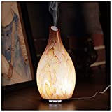 Ellestfun Essential Oil Diffuser 120ml, Handmade Glass Art Rock Pattern,Ultrasonic Aromatherapy Diffuser with Intermittent Setting, Soft and Bright Night Light, Cool Mist Humidifier for Home