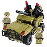 Freebex 3 in 1 Military War Jeep Car & Transform man & Robot Building Block Set-Chariot For Teens,Boys And Girls.Great for Birthday Gift,Party & Children Skill (Compitable Lego)
