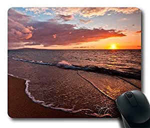 Beach Sunset Gaming Mouse Pad - Durable Personalized Oblong Shaped Mouse Pad Mouse Mat Design Natural Eco Rubber Computer Desk Stationery Accessories Gifts For Mouse Pads - Support Wired Wireless or Bluetooth Mouse by mcsharks