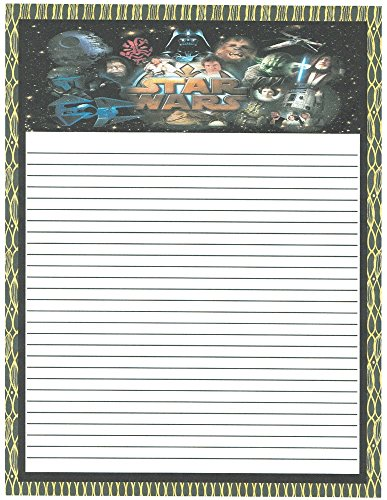 Kid's Camp Star Wars Lined Stationery Paper 26 (Children Lined Stationery)