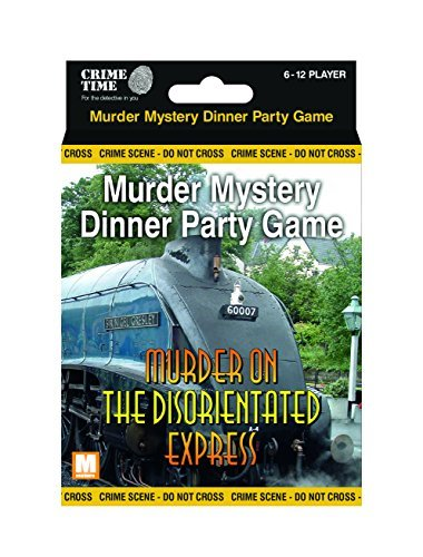 Downloadable Murder Mystery Games (Murder on the Disorientated Express - Murder mystery gift box - downloadable game for 6,8,10 or 12 players)