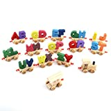 train number puzzle - Wooden Train Stacking Train Toy Education Numbers Letters Train Kids Name Train Wooden Railway Puzzles Games Educational Alphabetical Assemble Toy Set Plaything Colorful