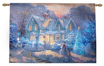 Thomas Kinkade Blessings Christmas Fiber Optic Lighted Wall Hanging