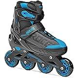 Roces 400810 Men's Model Jokey 1.0 Adjustable Inline Skate, US 13jr-2, Black/Astro Blue