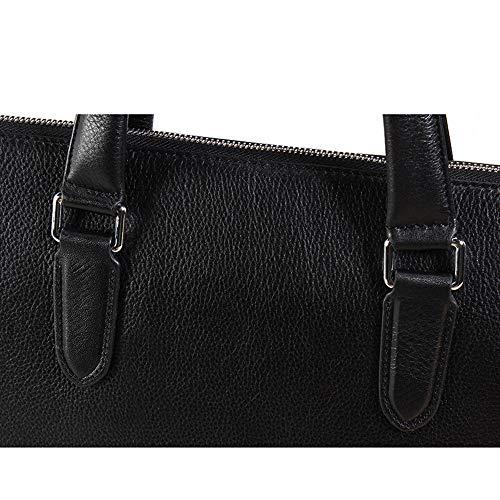 Y, Portfölj med stor kapacitet för män multifunktionell läder bärbar handväska messenger axel laptopväska för företag