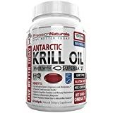 mega red omega - Krill Oil 1000mg/Serving Softgel Capsules Source of Pure Omega 3s EPA DHA and Astaxanthin Suberba2 (TM) MSC Certified Red Oil Supplement for Mega Results Best Antarctic Fish Oil Supplement