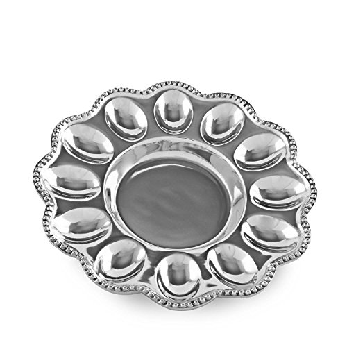 - Beatriz Ball 6182 Pearl Deviled Egg Platter, Silver