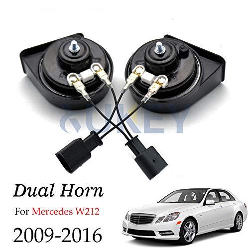 AUTOXBERT Fits for Mercedes Benz E200 E250 E300 E350 E400 E550 E63 W212 S212 2009-2016 Car Snail Horn 12V Waterproof Dual Pitch Loud Auto Horn ()