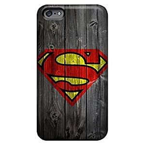 Super Strong mobile phone carrying skins For Iphone Cases Excellent Fitted iphone 6 plus - wooden superman logo