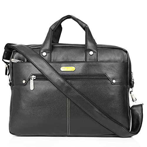 Blowzy 15.6 inch Laptop Expandable Office Sling Messenger Bag  Black