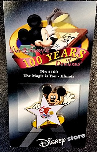 (Disney 100 Years of Dreams - The Magic is You Illinois - Pin #100)