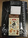 Music Themed Stationery - Clipboard Stationery Set (black)