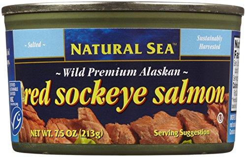 Natural Sea Wild Alaskan Red Sockey Salmon, Salted, 7.50-Ounce by Natural Sea (Image #2)