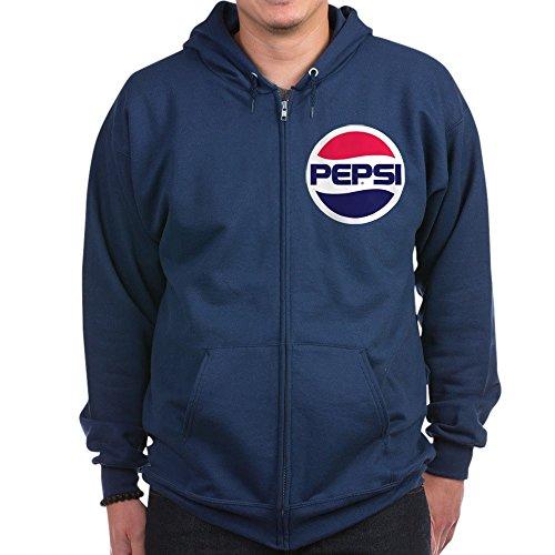 (CafePress - Pepsi 90S Logo - Zip Hoodie, Classic Hooded Sweatshirt with Metal Zipper Navy)