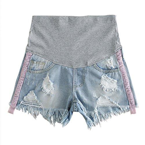 Hzjundasi Mode Femme Maternit Denim Doux Shorts Jeans lastique de soutien ventre Style6