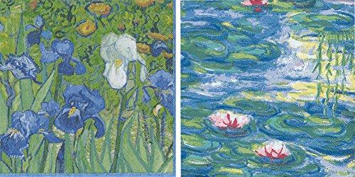 (Entertaining with Caspari Paper Cocktail Napkins, Pack of 40 ... (Van Gogh Irises & Nympheas) )