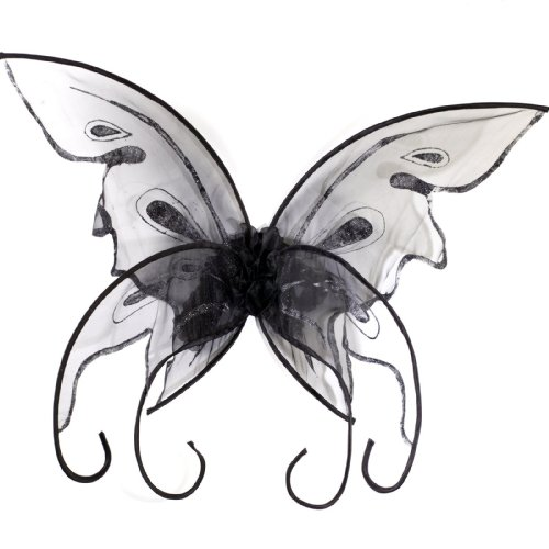 (Fun World Women's Butterfly Wings, Black,)