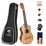 "Vangoa - UK-23Z Concert 23"" inches Acoustic Ukulele in Zebrawood with Nylon Strap"