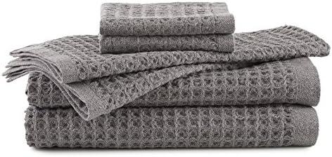 FlatIron Waffle Weave Grey Hand Towel