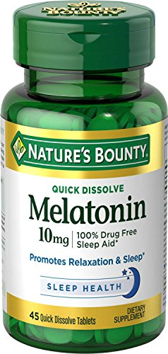 Nature's Bounty Melatonin 10 mg, 45 Quick Dissolve Tablets