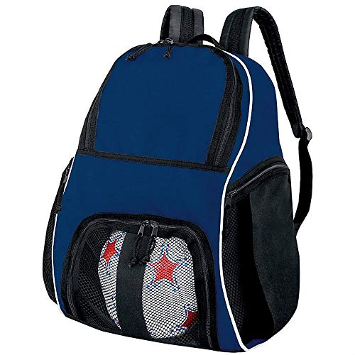 High Five Sportswear - High Five Sportswear HI27850 Player Backpack - Navy/White