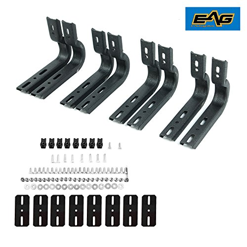 EAG Running Boards Nerf Bars Bracket only & Hardware Mounting Kit Fit for 04-14 Ford ()