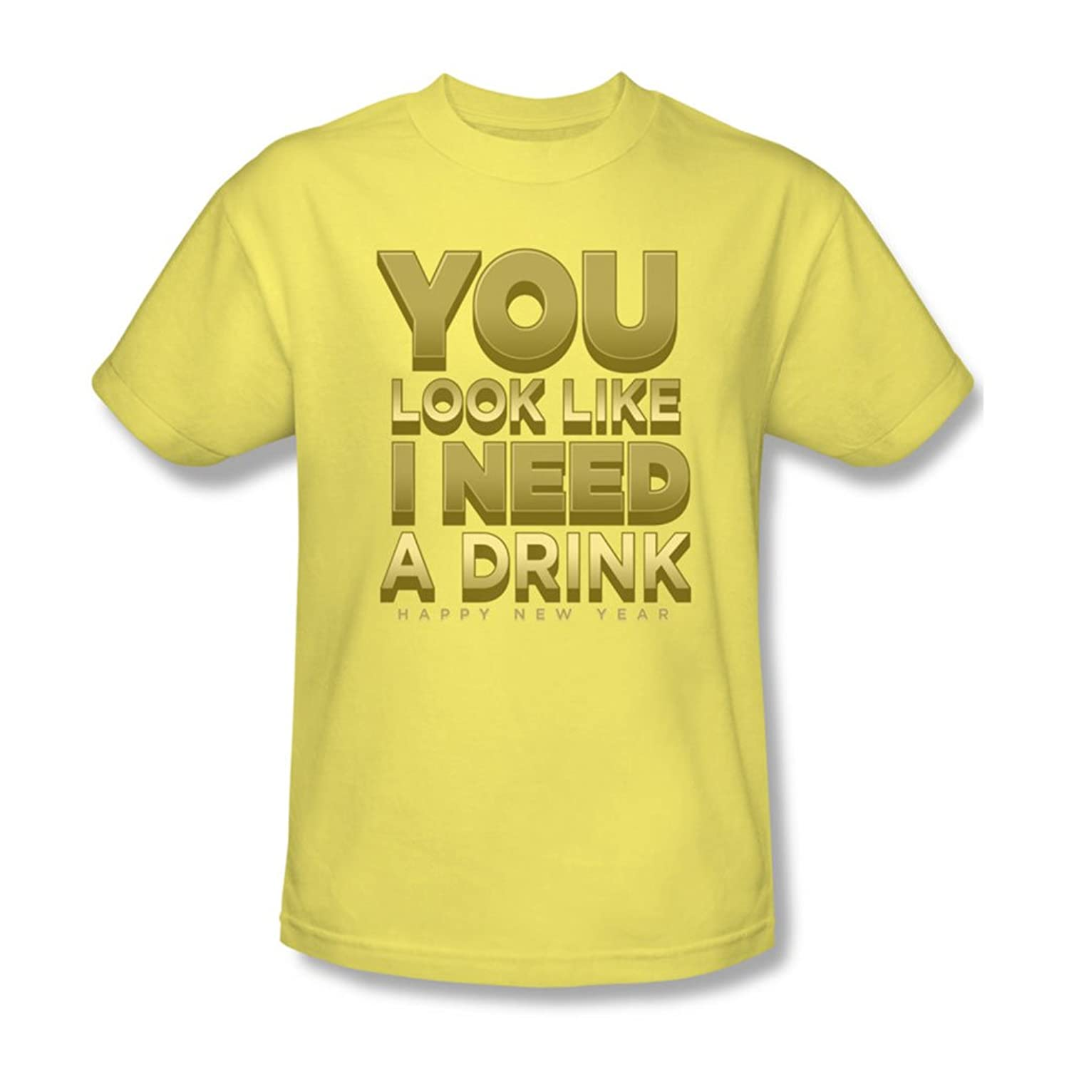 Funny Tees - Mens I Need A Drink T-Shirt
