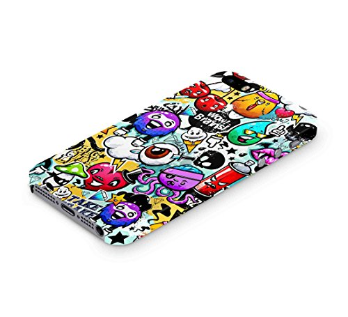 Cover Affair Funky / Cool / Funny Cartoon Printed Designer Slim Light Weight Back Cover Case for Apple iPhone 5 / Apple iPhone 5S / Apple iPhone - Cool Cartoons