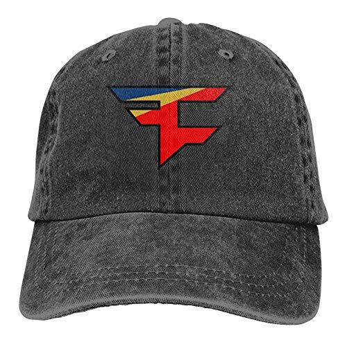 Zhi Fan Faze Clan Team Logo Buckle Strap Denim Snapback Hat Sports Operator  Cap Black 86b73fa184b