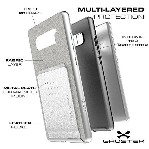 """Ghostek GHOCAS759 Schutzhülle """"Exec Series"""" für Samsung Note 8 silber"""