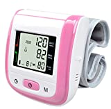 Automatic Wrist Blood Pressure Monitor Digital LCD Wrist Cuff Blood Pressure Meter Heart Beat Meter with Digital LED Display (Pink) offers