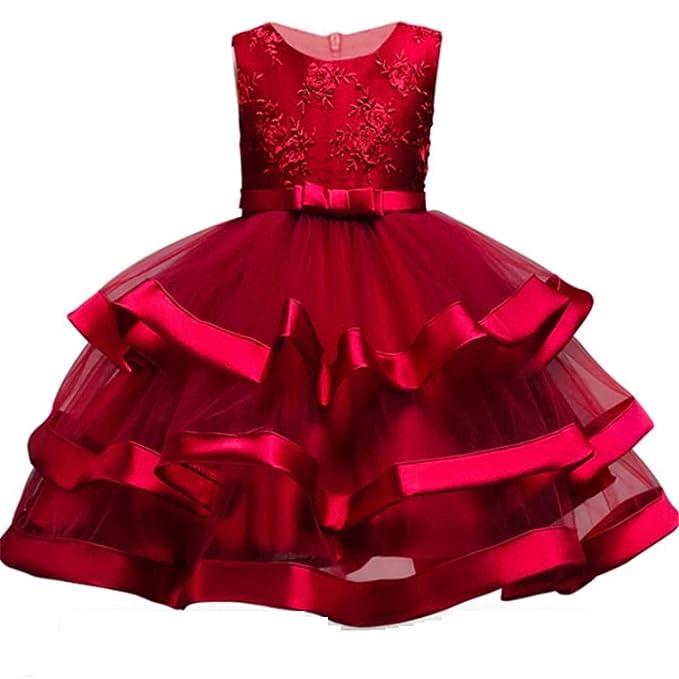 Amazon.com: 2-10T vestido de flores para niñas pequeños ...