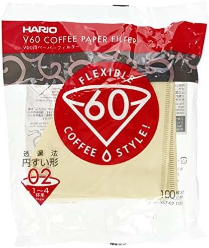 Hario V60 Misarashi Coffee Paper Filter (Size 02, 100 Count, Natural)