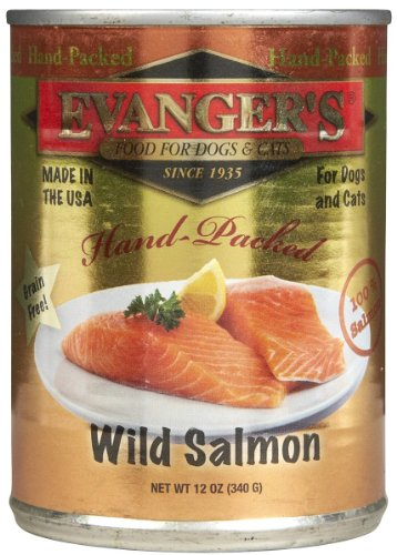 Evangers Canned Food (Evanger's Grain Free Wild Salmon - 12x13 oz)