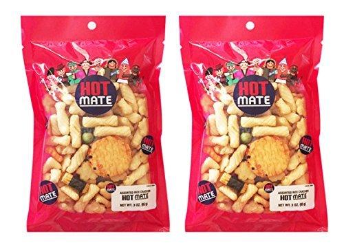 (Japanese Shirakiku Mate Assorted Rice Crackers 2 Packs (Hot Mate))