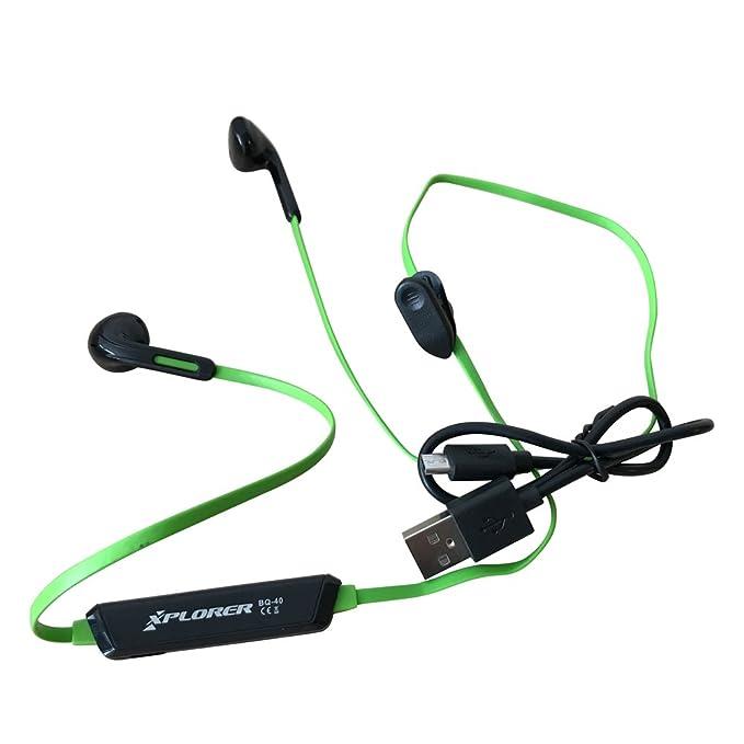 Xplorer Bluetooth Auriculares deportivos BQ40 con Mic, 5 horas de reproducción / IPX4 a prueba de agua para Apple, Samsung, Nexus, HTC y más: Amazon.es: ...
