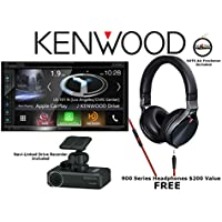 Kenwood Excelon DNX694S Double-Din AV Navigation System wth Bluetooth and HD Radio with KH-KR900 Noise Cancelling Headphones and DRV-N520 Navi Linked Drive Recorder and a SOTS Lanyard