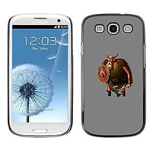 Caucho caso de Shell duro de la cubierta de accesorios de protección BY RAYDREAMMM - Samsung Galaxy S3 I9300 - Cartoon Viking Beard Axe