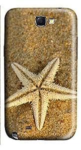 Samsung Note 2 Case Beach Starfish 3D Custom Samsung Note 2 Case Cover hjbrhga1544