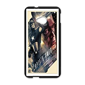DIY Printed Personlised Captain America 3 cover case For HTC One M7 W5699190