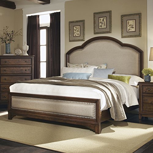 Coaster Home Furnishings 203251KE Rustic King Bed, Cocoa Brown King Sleigh Bedroom Suite