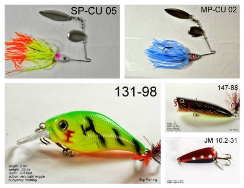 Akuna [IN] Pros' pick recommendation collection of lures for Bass, Panfish, Trout, Pike and Walleye fishing in Indiana(Pan Fish 5-A)