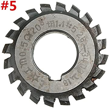 #4 EsportsMJJ Pa20 De M/ódulo 0.5 Di/ámetro Engranaje Espiral De 16Mm #1-8 Hss Fresa